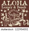 endless summer retro style - stock vector