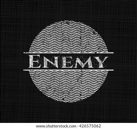 Enemy chalkboard emblem - stock vector
