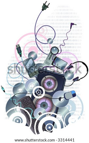 Energetic Tech Design, also available in jpeg. - stock vector