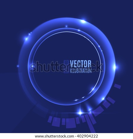 Energy abstract glow circles - stock vector