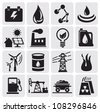 energy and power icons - stock vector