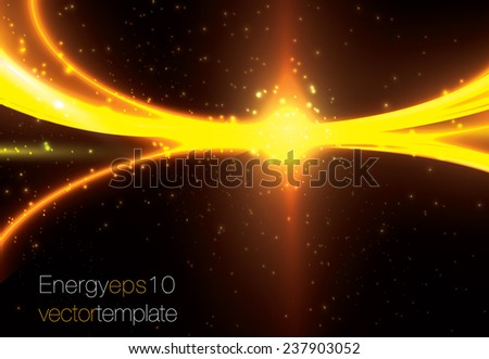 Energy bursting rays of light. Abstract vector template - stock vector