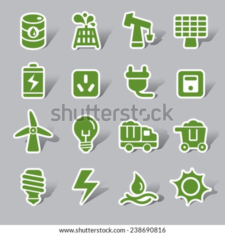 Energy Color Icon Label - stock vector