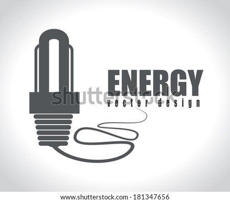 energy design over gray background, vector illustration - stock vector