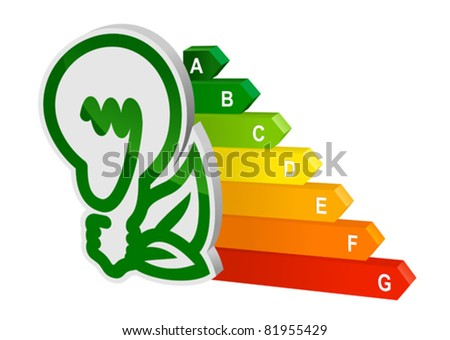 Energy efficiency graph for ecology and environment design. Rasterized version also available in gallery - stock vector