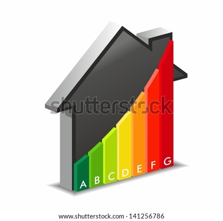 Energy efficiency in the home - stock vector