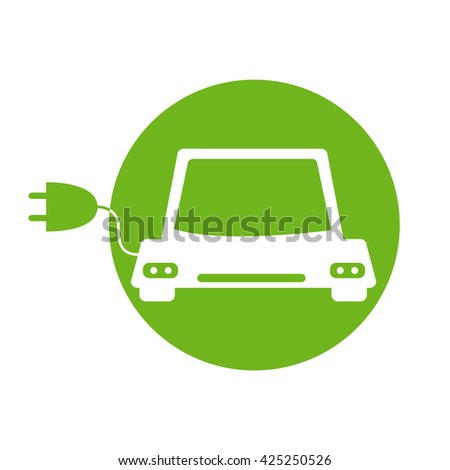 Energy fuel icons. Flat style. Safe and environmentally friendly fuels. The ecology of the planet. Charging the car. An electric plug. Gas station. Vector illustration. - stock vector