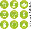 energy glossy icons - stock vector
