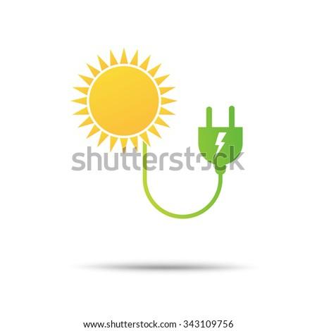 energy power eco icon - stock vector