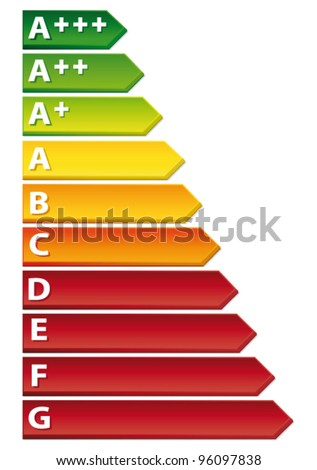 Energy rating chart. New label. Vector icon.