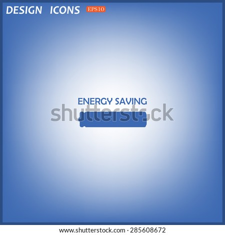 energy saving battery. icon. vector design