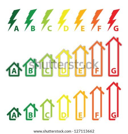 Energy saving certificate concept, green building concept, vector illustration - stock vector