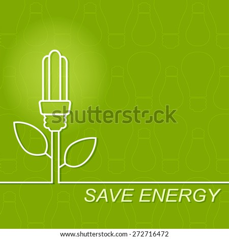 Energy saving fluorescent light bulb icon. concept of big ideas inspiration invention, effective thinking.Outline. - stock vector