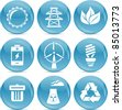 energy saving icons - stock vector