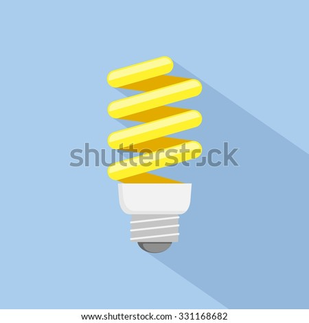 Energy saving Light Bulb Icon. Flat style. - stock vector