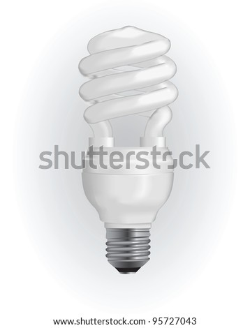 Energy saving light bulb. Vector illustration. - stock vector