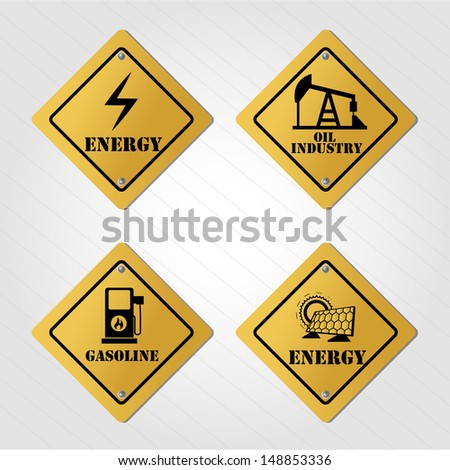 energy signals over gray background vector illustration
