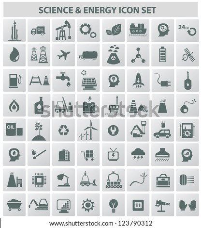 Energy & technology icons,vector - stock vector