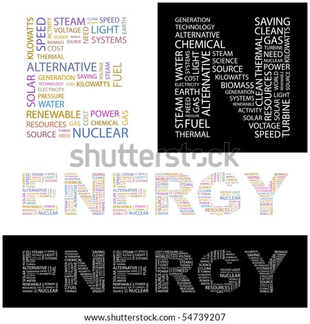 ENERGY. Word collage. Vector illustration. - stock vector
