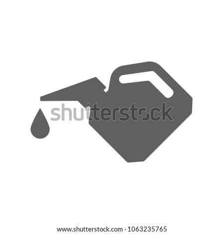 Engine Oil Gallon Icon Trendy Flat Stock Vector 1063235765