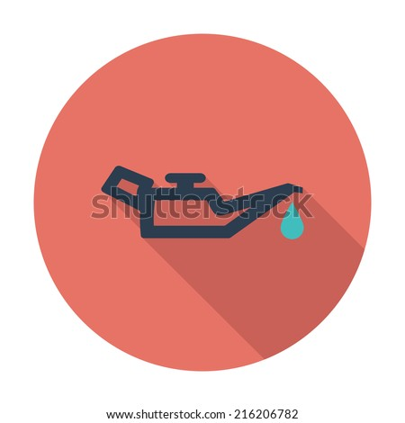 Engine oil. Single flat color icon. Vector illustration. - stock vector