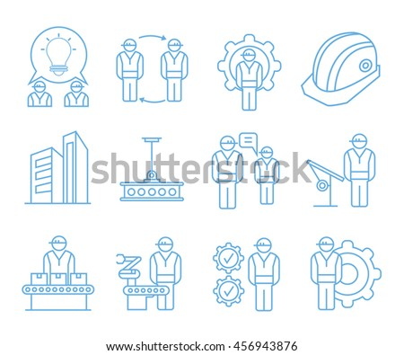 engineering icons, construction project icons
