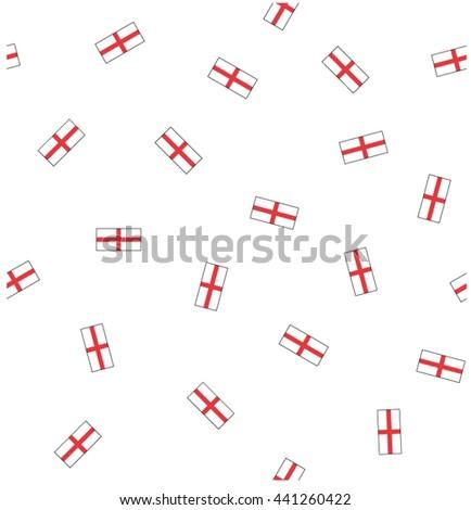 England flag seamless pattern. - stock vector