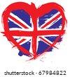 England grunge flag - stock photo