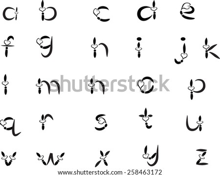 English alphabet a to z vector arts