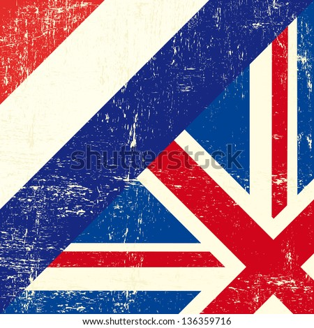 English and netherlands grunge Flag. this flag represents the relationship  between UK and the Netherlands