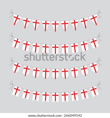 english bunting - stock vector