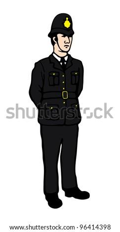 English Policeman - stock vector