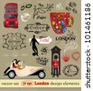 English set of vector design elements. - stock photo