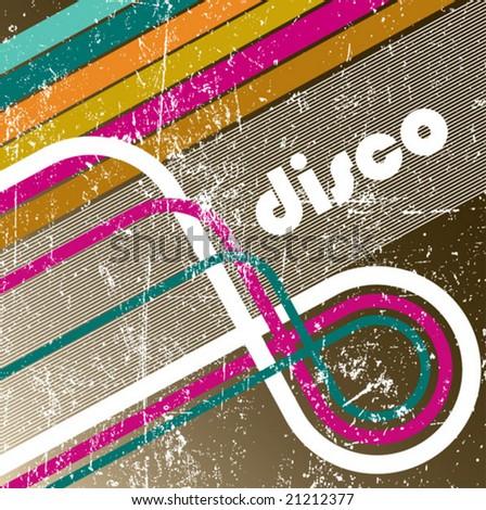 Enjoy disco. vector - stock vector