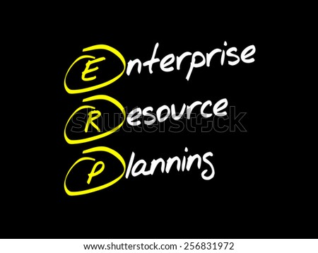 Enterprise resource planning (ERP), business concept acronym - stock vector
