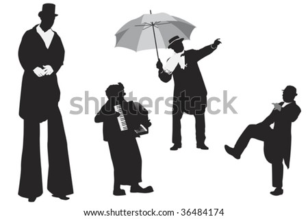 entertainer silhouettes