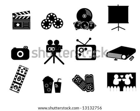 Entertainment Icons - stock vector
