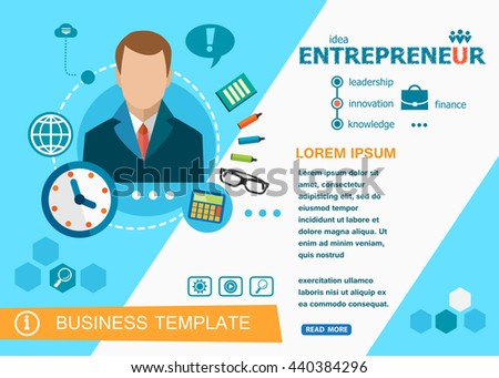 Entrepreneur design concepts of words learning and training. Entrepreneur flat design banners for website, easy to use and highly customizable.