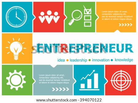 Entrepreneur design illustration concepts for business, consulting, management, career. Entrepreneur  concepts for web banner and printed materials.