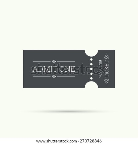 Entry ticket to old vintage style. hipster logo. Admit one theater, cinema, zoo, swimming pool, fair, rides, swing, amusement park, carousel. icon for online booking of tickets. Web and mobile app - stock vector