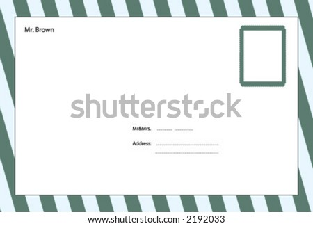 envelop, adverbial - stock vector