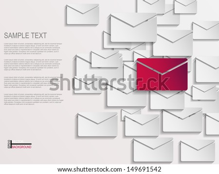 Envelope abstract background  - stock vector