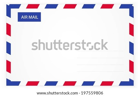 Envelope. Air mail. Front. Vector Illustration - stock vector