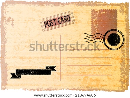 Envelope and stamp . Vector Illustration.  - stock vector