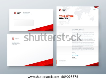 Envelope Dl C Letterhead Corporate Business Stock Vector