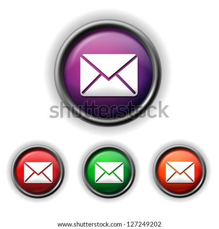 envelope icon - stock vector