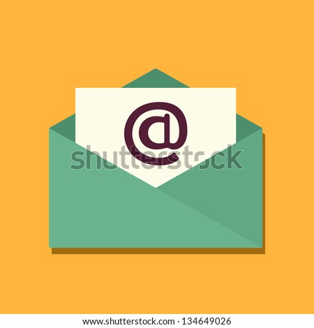 Envelope icon. Email design - stock vector