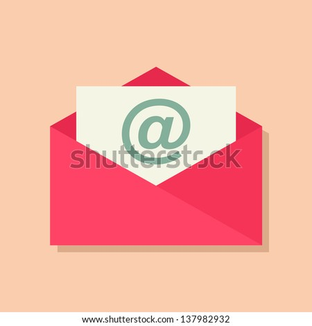 Envelope icon. Email design