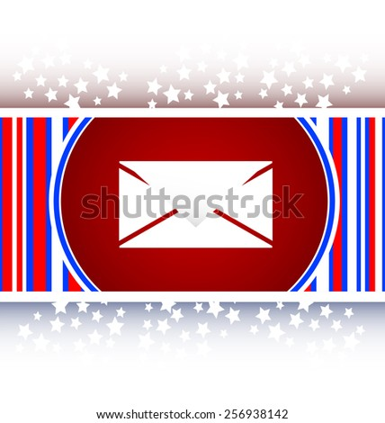 envelope icon glass, button isolated on white background - stock vector
