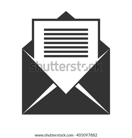 Envelope icon vector, solid illustration, pictogram isolated on white - stock vector